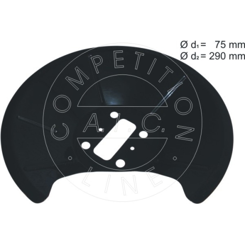 AIC splash panel, rear left brake disc 56385