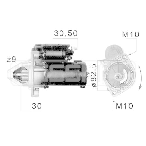 Starter ERA 220062A MERCEDES-BENZ GENERAL MOTORS