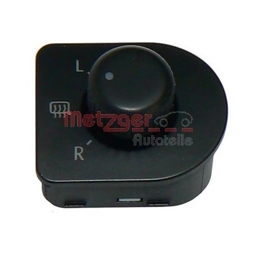 Schalter, Spiegelverstellung METZGER 0916071 VW