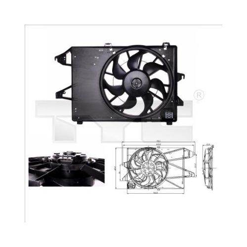 Fan, radiator TYC 810-0009 FORD