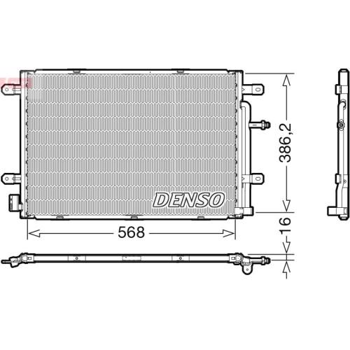 Kondensator, Klimaanlage DENSO DCN02039 VAG
