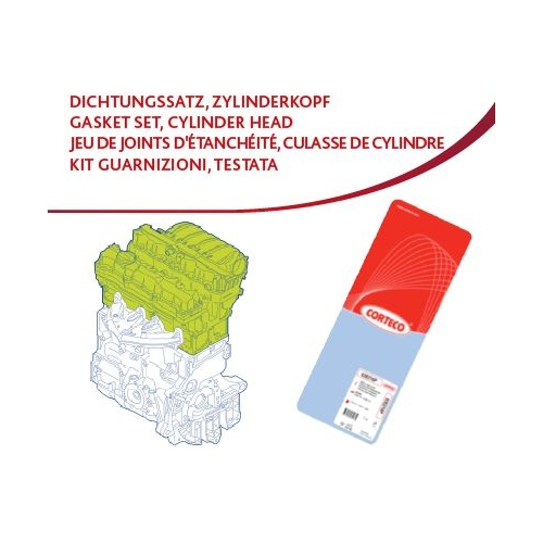 Dichtungssatz, Zylinderkopf CORTECO 418460P
