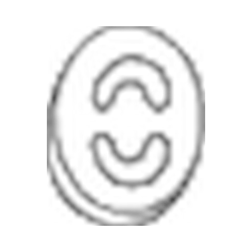 Gummistreifen, Abgasanlage BOSAL 255-839 AUDI MERCEDES-BENZ SEAT VW