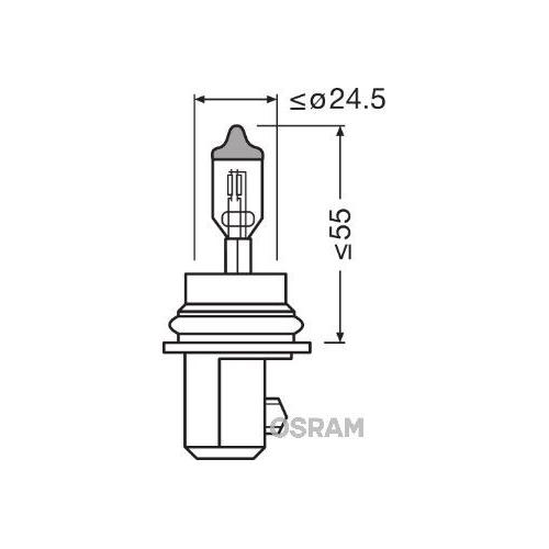 Glühlampe Glühbirne OSRAM (9007)