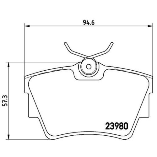 Bremsbelagsatz, Scheibenbremse BREMBO P 59 041 FIAT NISSAN OPEL RENAULT VAUXHALL