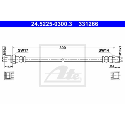 Bremsschlauch ATE 24.5225-0300.3 PORSCHE