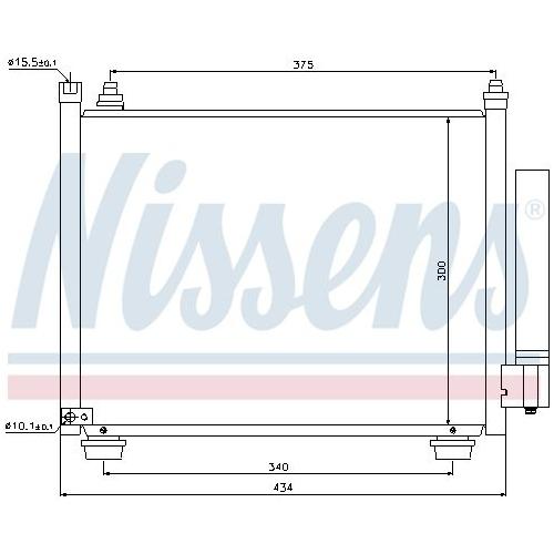 Kondensator, Klimaanlage NISSENS 940092 SUZUKI