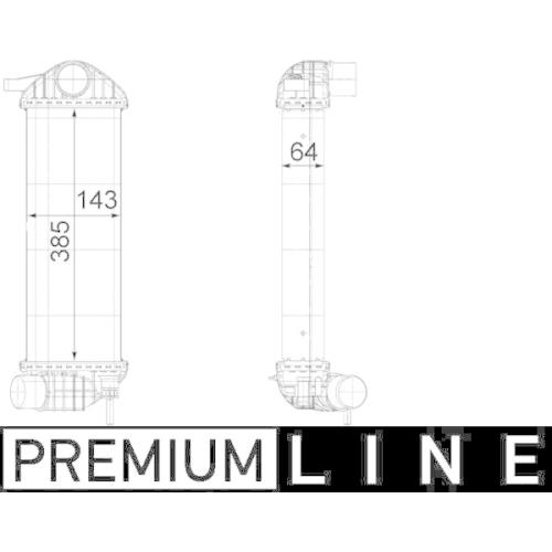 Ladeluftkühler MAHLE CI 243 000P BEHR *** PREMIUM LINE *** RENAULT