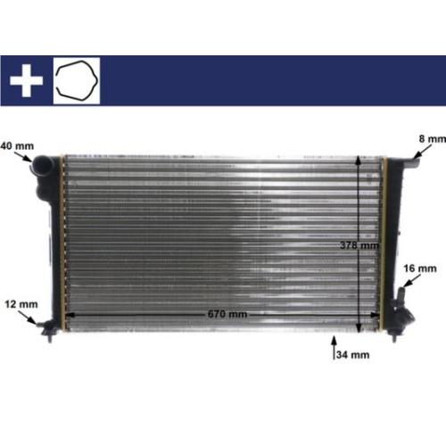 Kühler, Motorkühlung MAHLE CR 624 000S CITROËN PEUGEOT