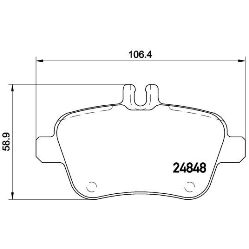 Brake Pad Set, disc brake BREMBO P 50 091 MERCEDES-BENZ