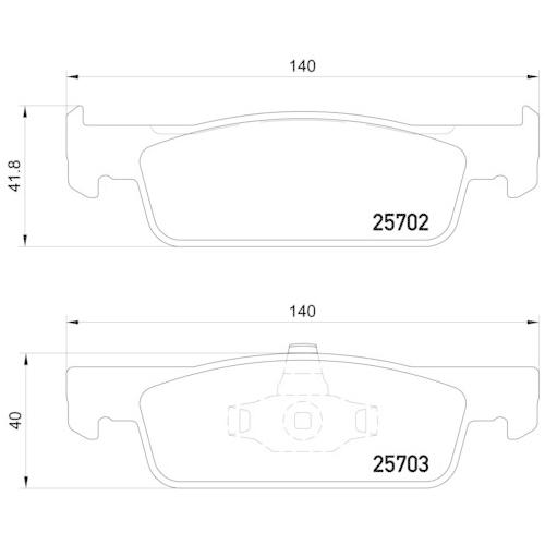 Bremsbelagsatz, Scheibenbremse BREMBO P 68 059 RENAULT DACIA SMART