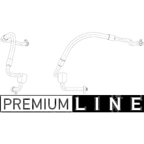 Niederdruckleitung, Klimaanlage MAHLE AP 124 000P BEHR *** PREMIUM LINE *** FORD