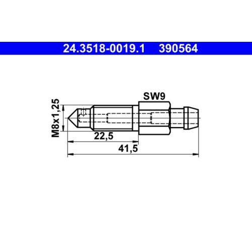 Entlüfterschraube/-ventil ATE 24.3518-0019.1