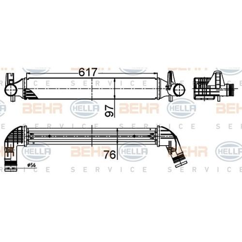 Ladeluftkühler HELLA 8ML 376 988-494 AUDI SEAT SKODA VW