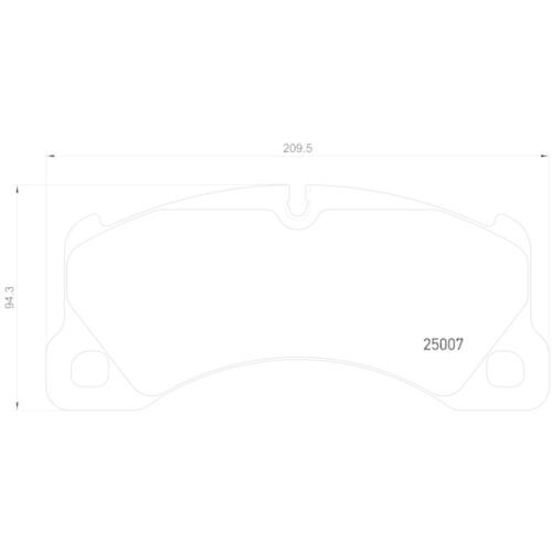 Bremsbelagsatz, Scheibenbremse BREMBO P 65 021 AUDI PORSCHE SEAT SKODA VW