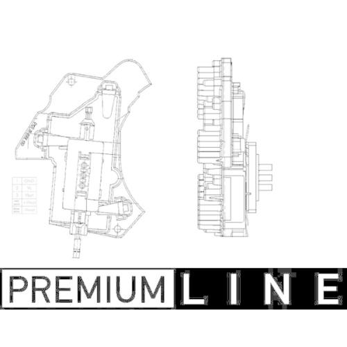 Regulator, passenger compartment fan MAHLE ABR 24 000P BEHR *** PREMIUM LINE ***