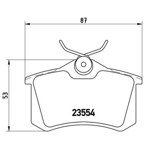 Bremsbelagsatz, Scheibenbremse BREMBO P 68 024 OPEL PEUGEOT RENAULT VAUXHALL