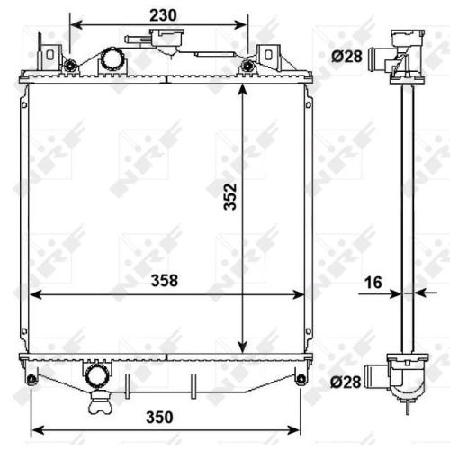 Radiator, engine cooling NRF 507644 SUZUKI