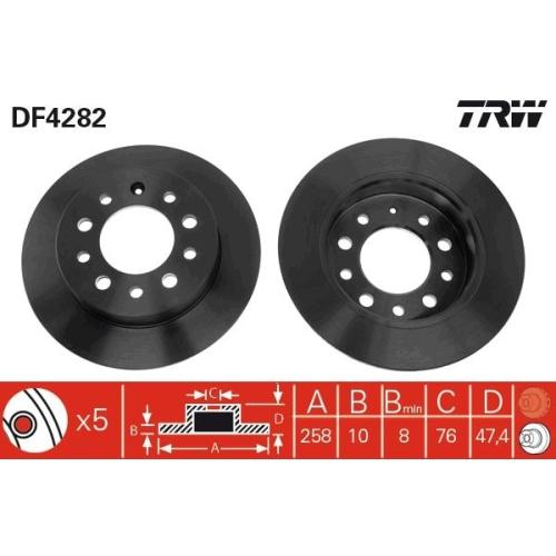 Brake Disc TRW DF4282 HYUNDAI