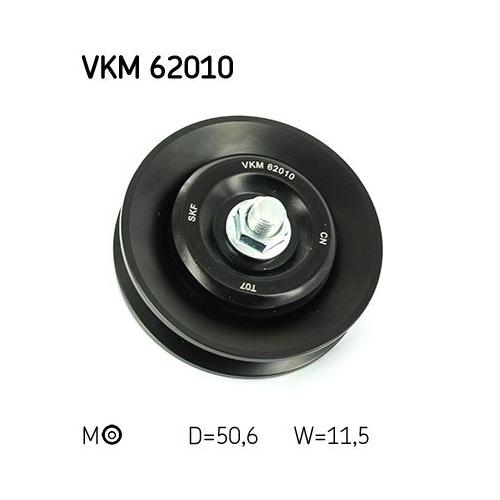 SKF Tensioner Pulley, V-belt VKM 62010