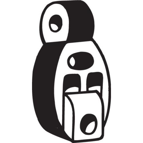 Gummistreifen, Abgasanlage BOSAL 255-055 MITSUBISHI