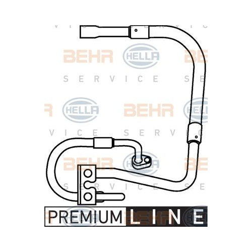HELLA High-/Low Pressure Line, air conditioning 9GS 351 337-281