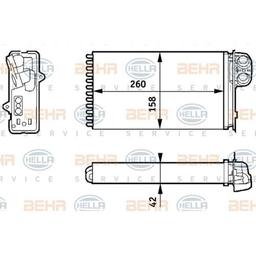 Wärmetauscher, Innenraumheizung HELLA 8FH 351 313-421 RENAULT RENAULT TRUCKS