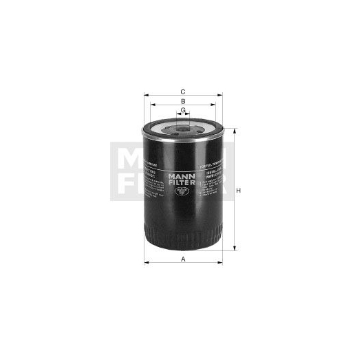 Fuel filter MANN-FILTER WDK 962/12 DEUTZ-FAHR KAMAZ