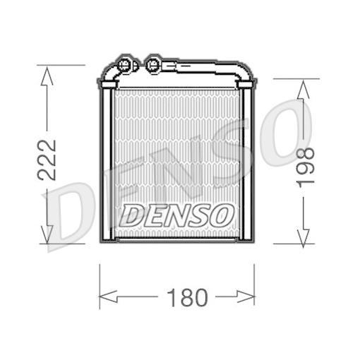DENSO Heat Exchanger, interior heating DRR32005