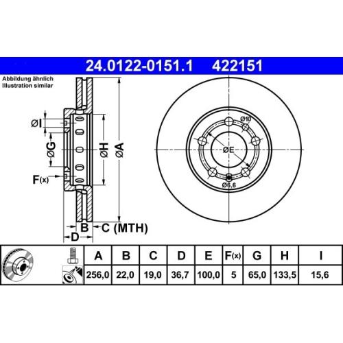 ATE Bremsscheibe 24.0122-0151.1