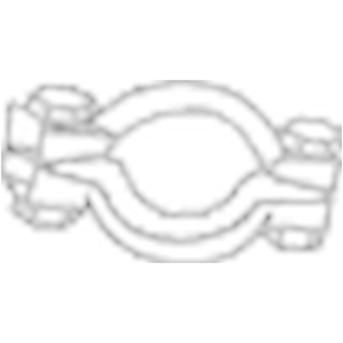 Klemmstück, Abgasanlage BOSAL 254-950 CITROËN PEUGEOT