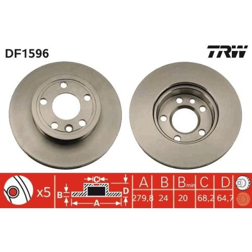 Brake Disc TRW DF1596 VW
