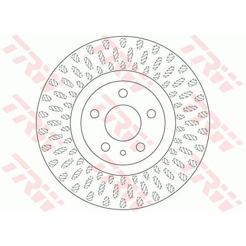 Brake Disc TRW DF6522 FIAT