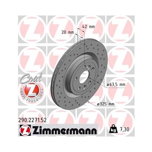 ZIMMERMANN Brake Disc 290.2271.52