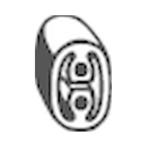 BOSAL Rubber Buffer, silencer 255-520