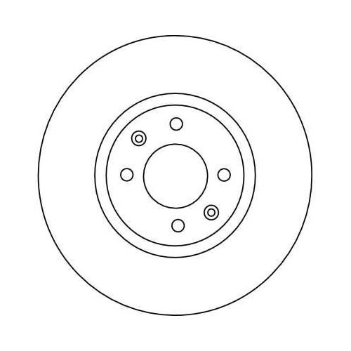 Brake Disc TRW DF4141 CITROËN