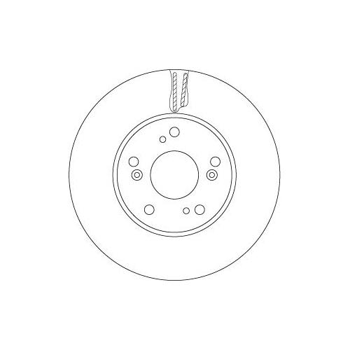 Brake Disc TRW DF6527 HONDA