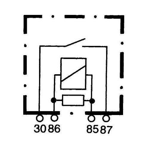Relay, main current HELLA 4RA 007 957-011 MANITOU