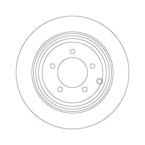 Brake Disc TRW DF6326 CHRYSLER DODGE JEEP
