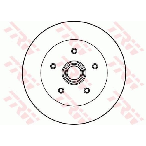 Brake Disc TRW DF2587 AUDI CITROËN SEAT SKODA VW