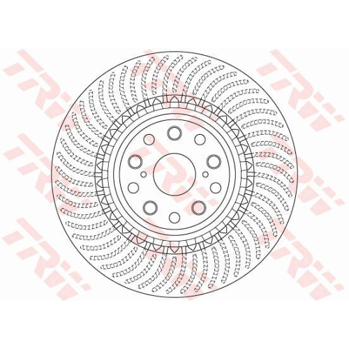 Brake Disc TRW DF6488S LEXUS