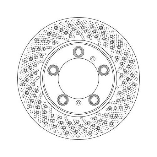 Brake Disc TRW DF6483S PORSCHE
