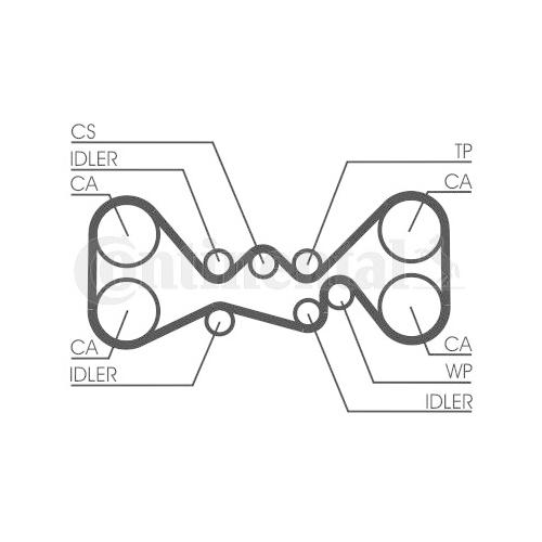 Timing Belt CONTINENTAL CTAM CT1058 SUBARU