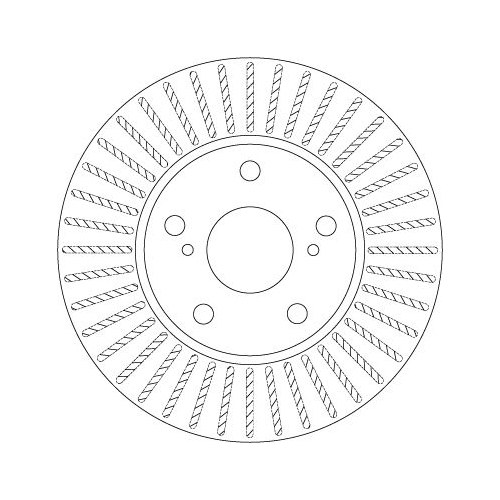 Brake Disc TRW DF6679 TOYOTA
