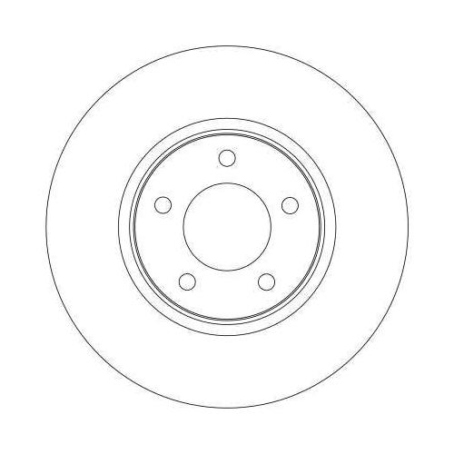 Brake Disc TRW DF4346 CHRYSLER DODGE