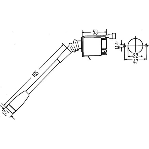 Steering Column Switch HELLA 6TA 003 394-011 KÄSSBOHRER HOLDER DEUTZ-FAHR FENDT