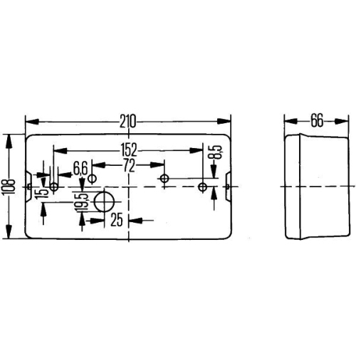 Combination Rearlight HELLA 2VB 006 040-051 AEBI FAUN HOLDER HAKO KRAMER