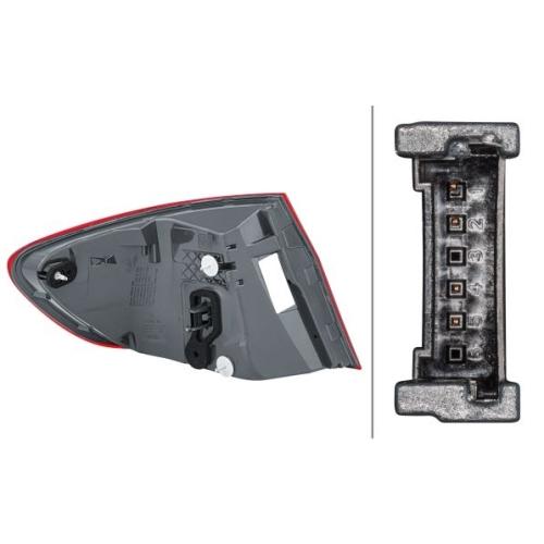 Combination Rearlight HELLA 2SD 010 234-101 BMW