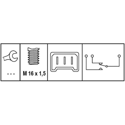 HELLA Brake Light Switch 6DD 008 622-631