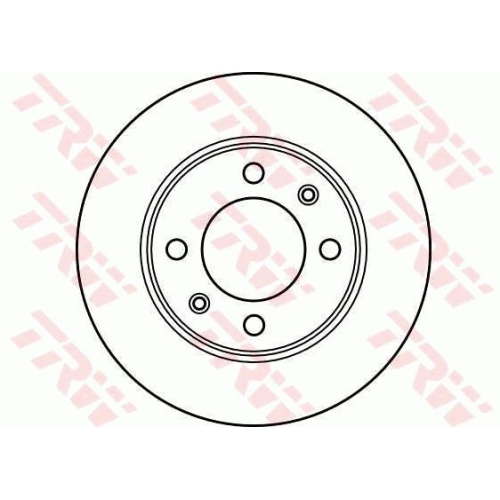 TRW Brake Disc DF2581